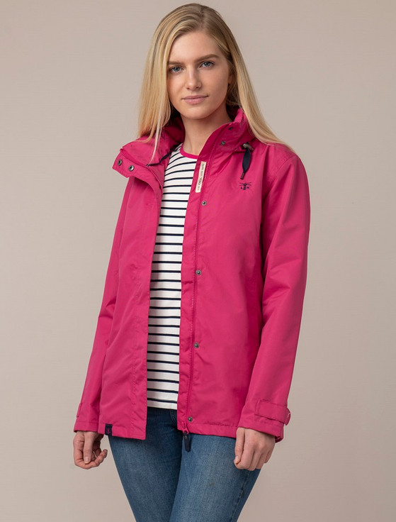 Beachcomber Ladies Waterproof Coat - Raspberry