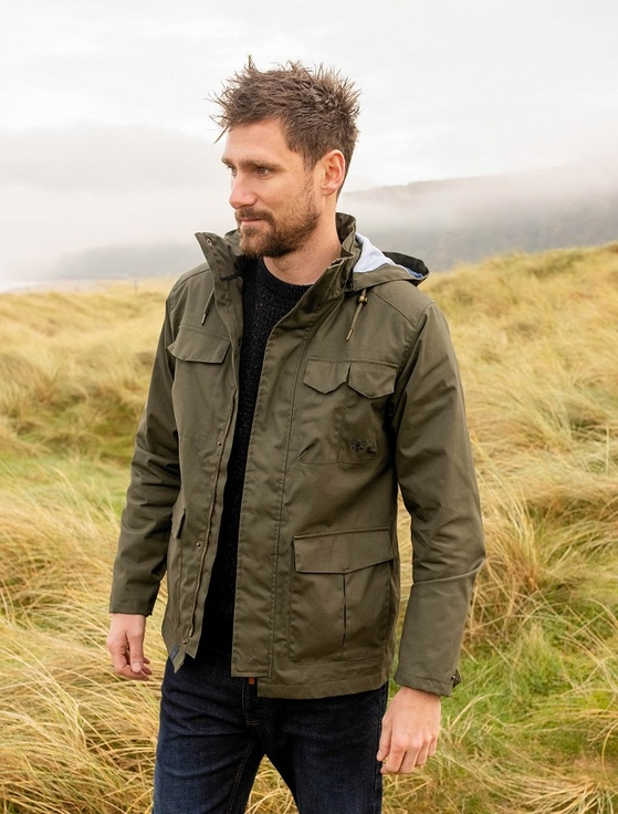 Grayson Men's Waterproof Country Jacket - Olive
