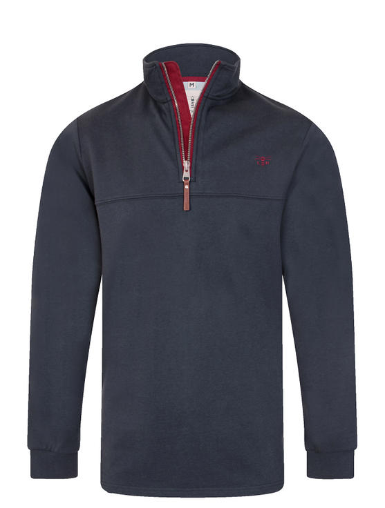 Seafarer Men's Half-Zip Sweater - Navy