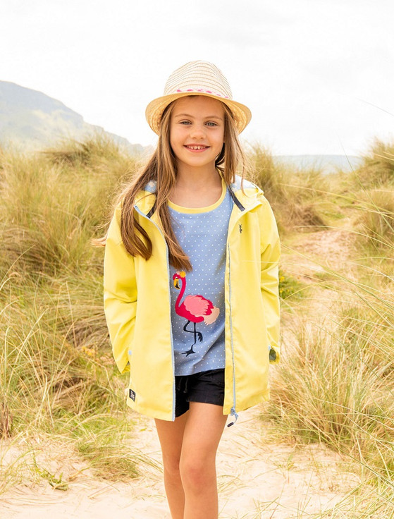 Olivia Girls Waterproof Coat - Lemon