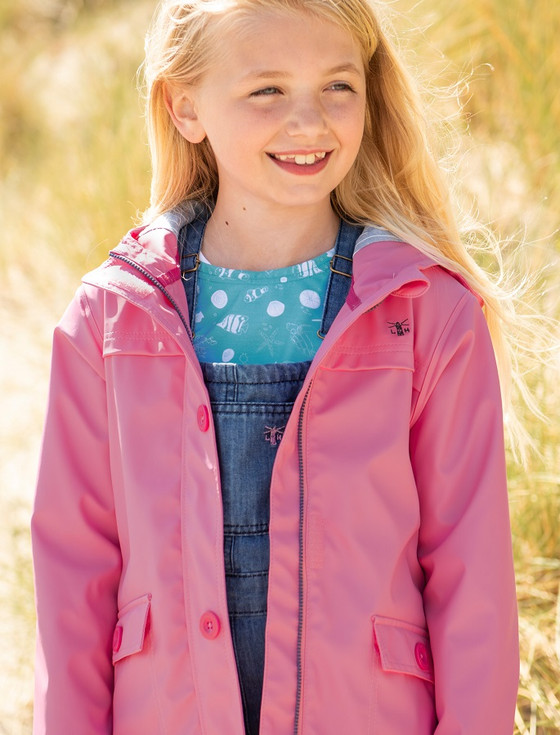 Sophia Girls Waterproof Coat - Sweet Pea Pink