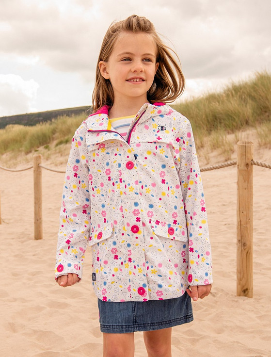 Sophia Girls Waterproof Coat - Floral Print