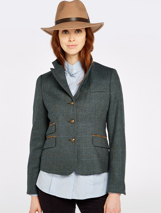 Buttercup Ladies Fitted Tweed Jacket- Mist