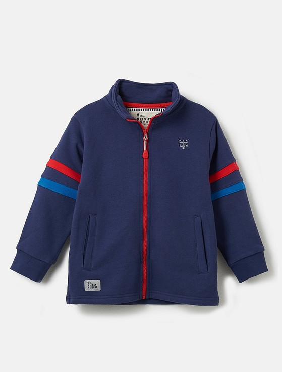 Zach Boys Zip-Up Sweater - Eclipse