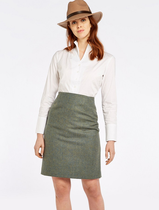 Fern Ladies Fitted Tweed Knee Length Skirt - Rowan
