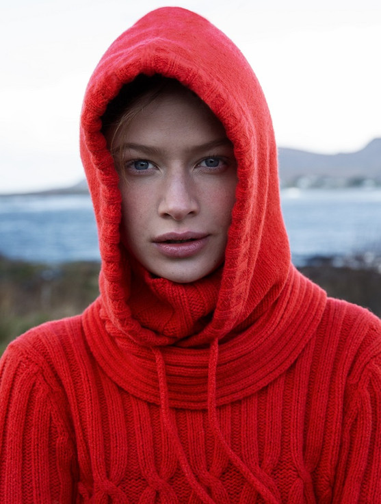Wool Cashmere Hood - Life bouy