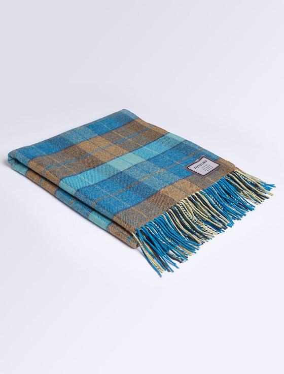 Lambswool Throw - Peacock Tartan