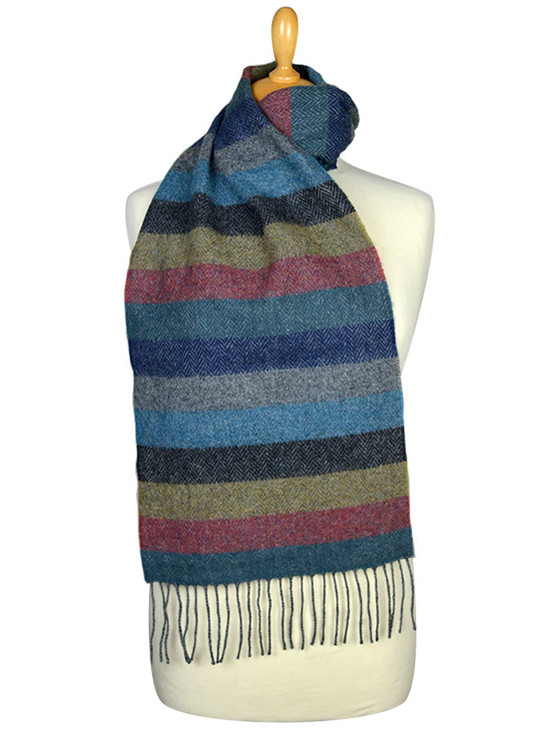 Lambswool Scarf - Donegal Stripe