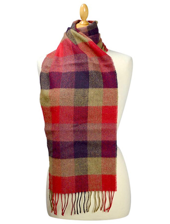 Lambswool Scarf - Country Block Check