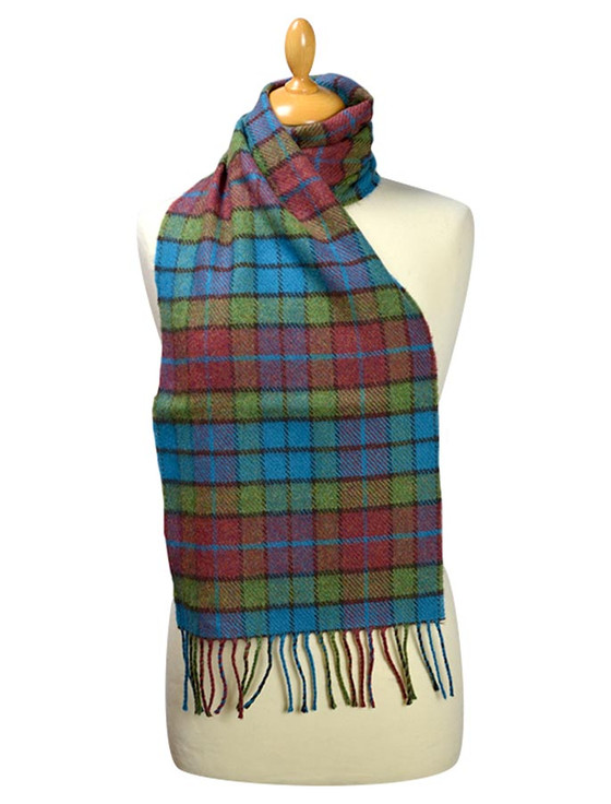 Lambswool Scarf - Shannon Block Check