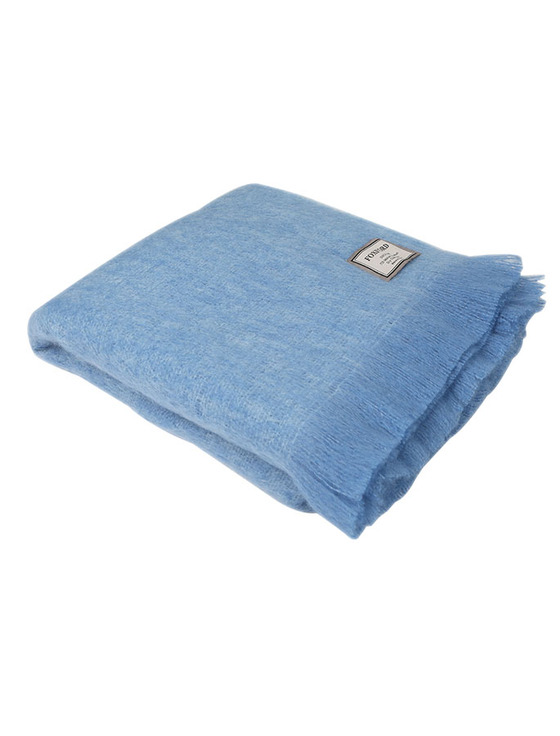 Mohair Throw - Pale Blue