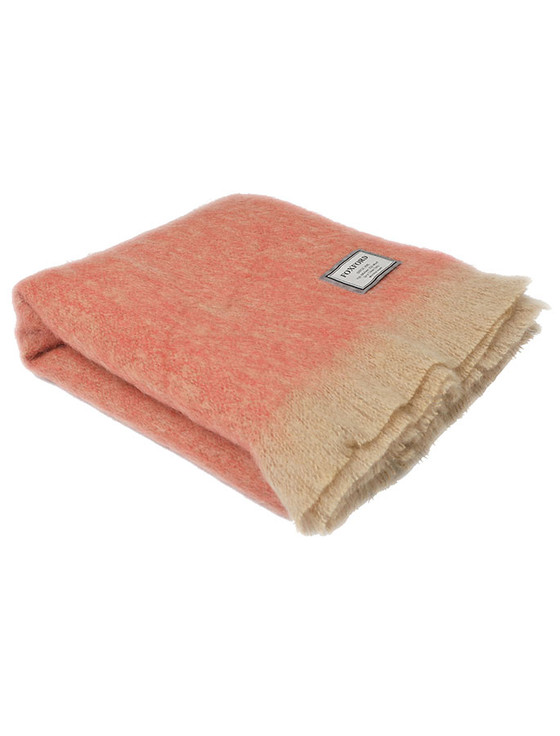 Mohair Throw - Camel Pink