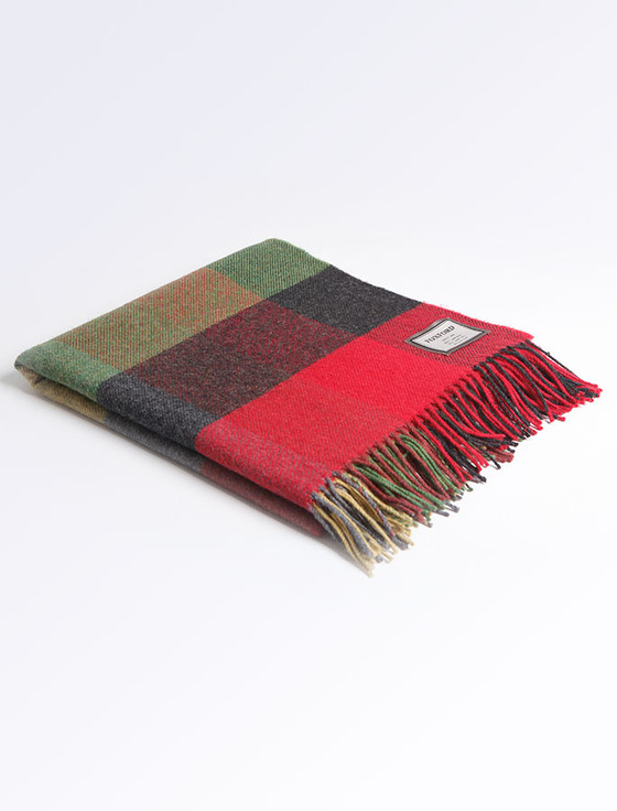 Lambswool Throw - Heritage Block