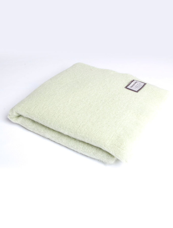 Mohair Throw - Light Lime