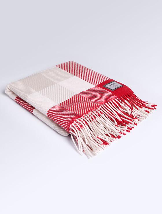 Wool Throw - Nordic Check