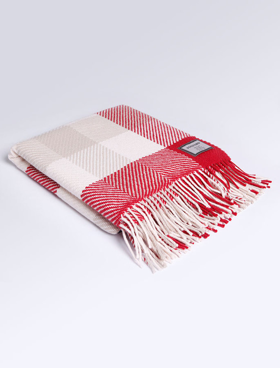 Wool Throw - Nordic Check