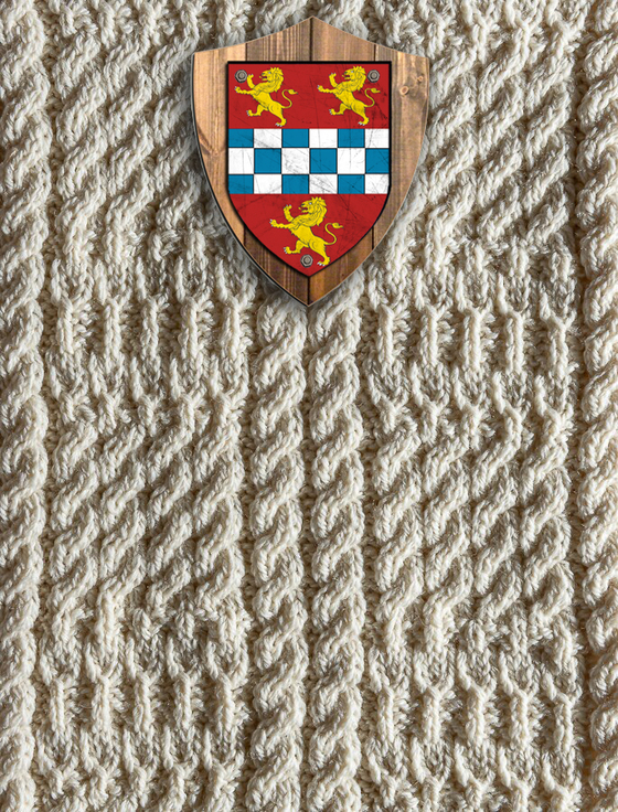 Stewart Clan Aran Throw