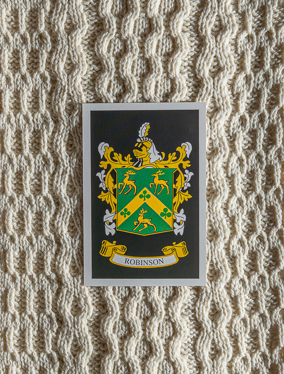 Robinson Clan Aran Throw