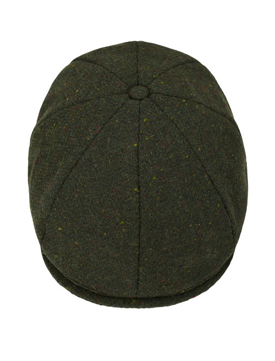 Donegal Tweed 8 Piece Panel Cap - Green Fleck