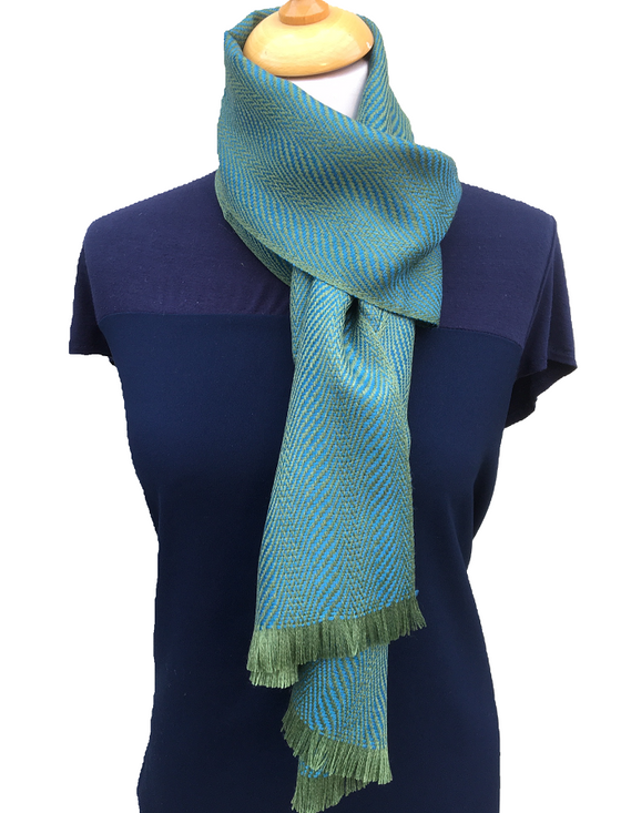 Ross Super-Soft Merino Scarf - Green Teal