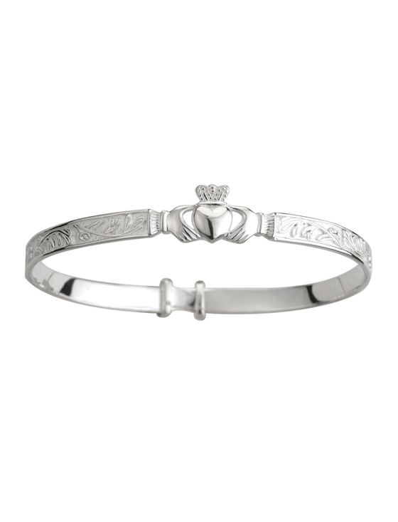 Sterling Silver Claddagh Baby Bangle
