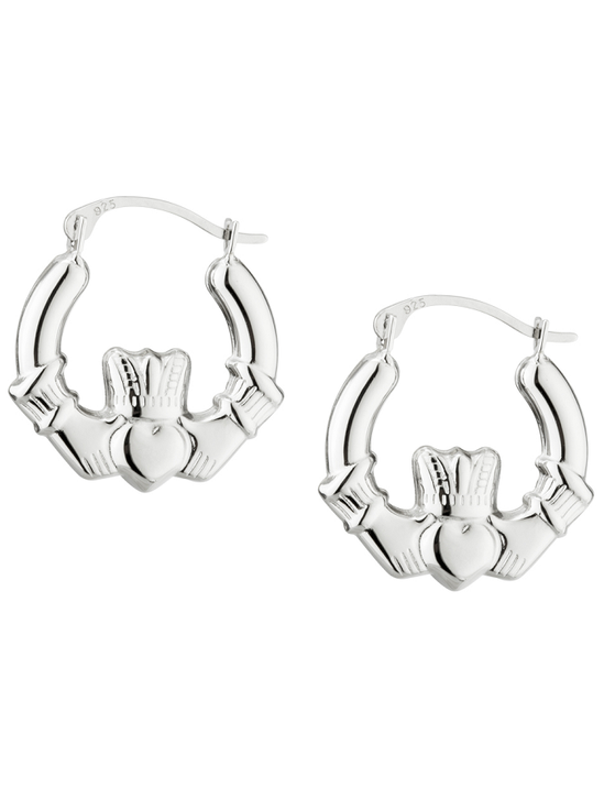 Claddagh Creole Small Earrings