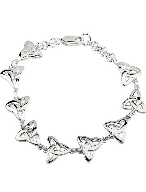 Celtic Trinity Knot Bracelet Silver