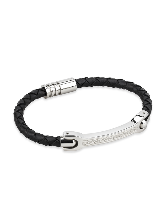 Men's Celtic Leather Bracelet