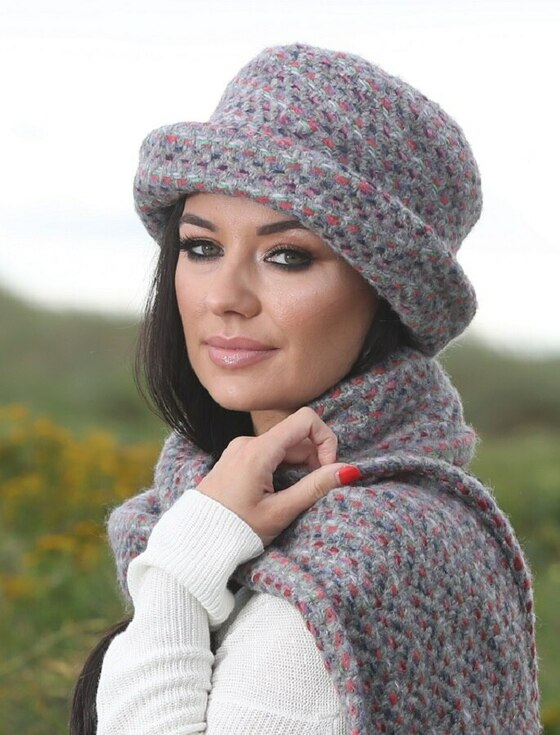 Wool Country Hat - Connemara Light Grey