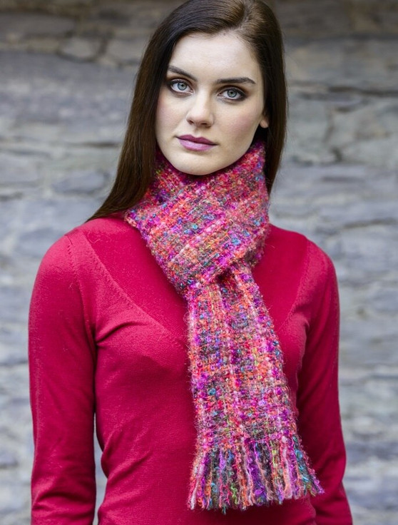 Extra Soft Mohair Scarf- Pink