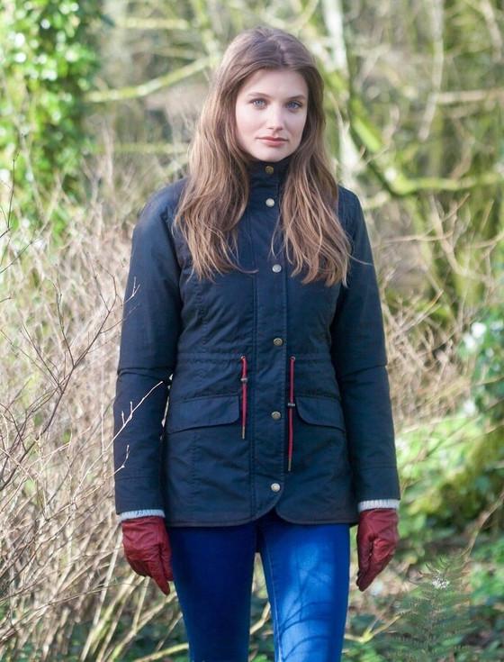 Fiona Waxed Jacket - Heritage Navy
