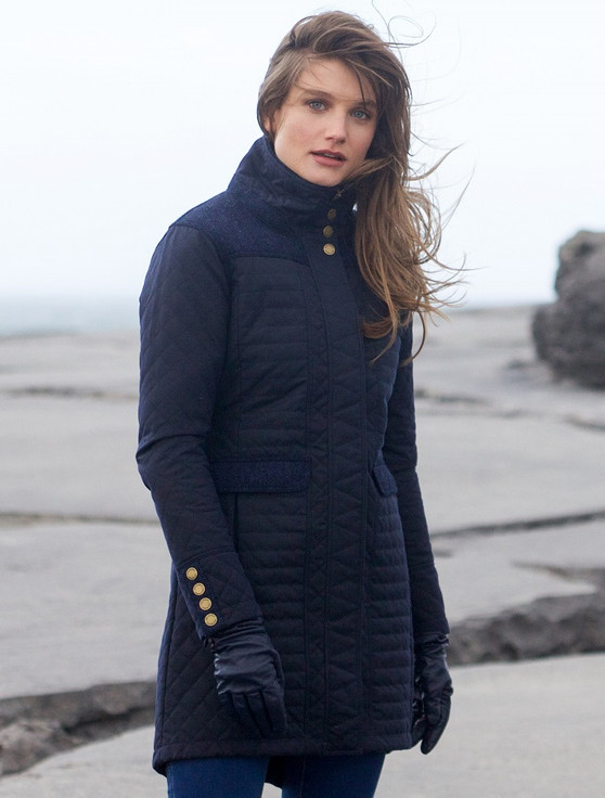 Jodie Waxed Coat - Heritage Navy