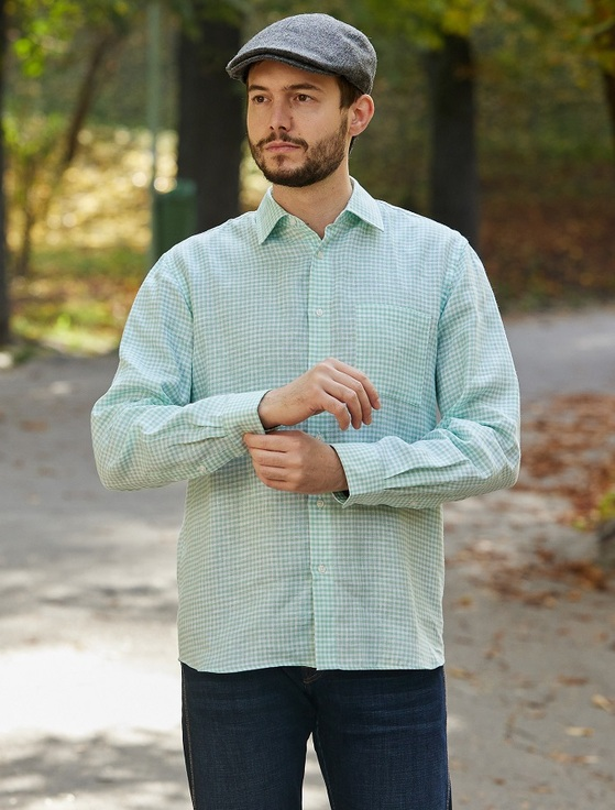 Classic Pure Irish Linen Shirt - Wicklow Green