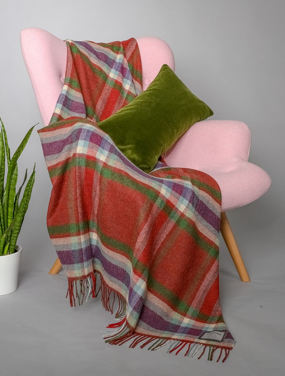 Lambswool Throw - Country Plaid