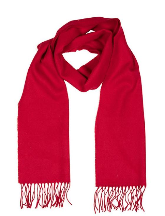 Luxury Merino Wool Scarf - Red