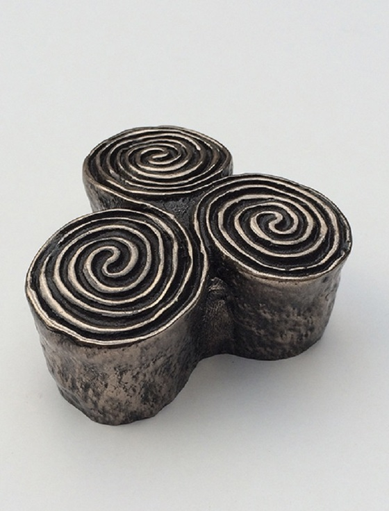 Newgrange Triple Spiral Paperweight
