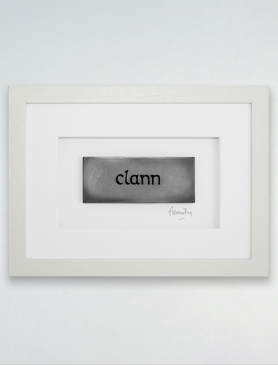 Framed Clann - (Family) Bronze Plaque