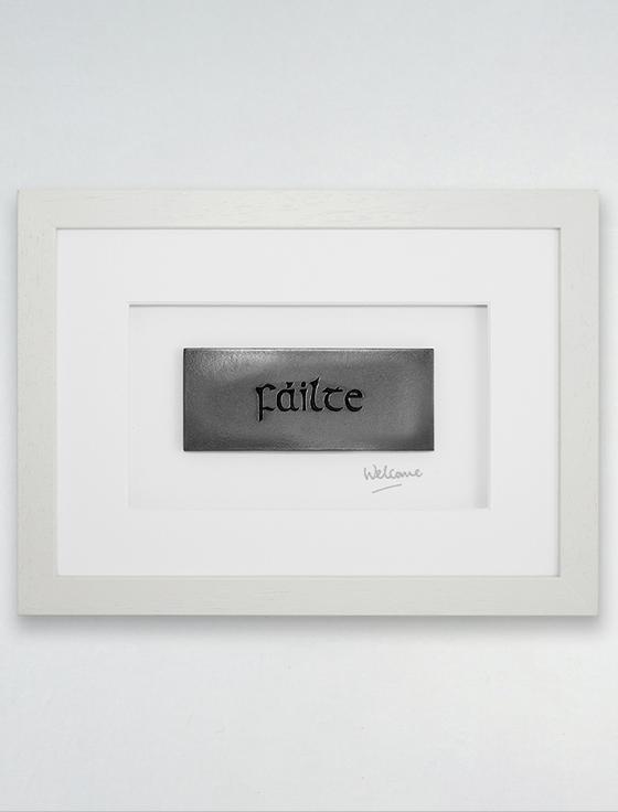Framed Fáilte - ( Welcome ) Bronze Plaque