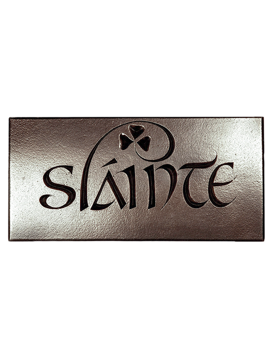 Irish Bronze Sláinte Wall Plaque