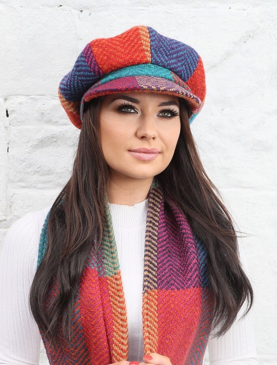 Ladies Wool Peaky Blinders Hat - Donegal Red