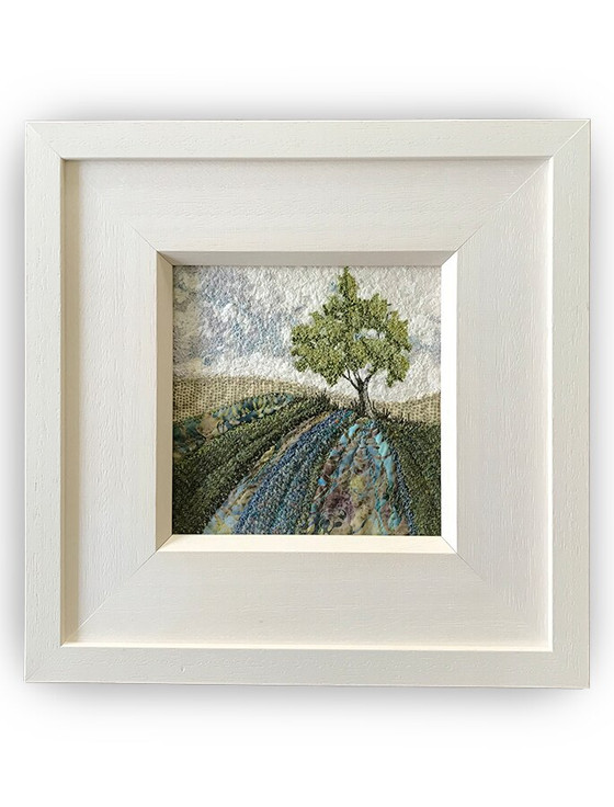 Framed Original Tweed Embroidery - Emerald Hill - Small