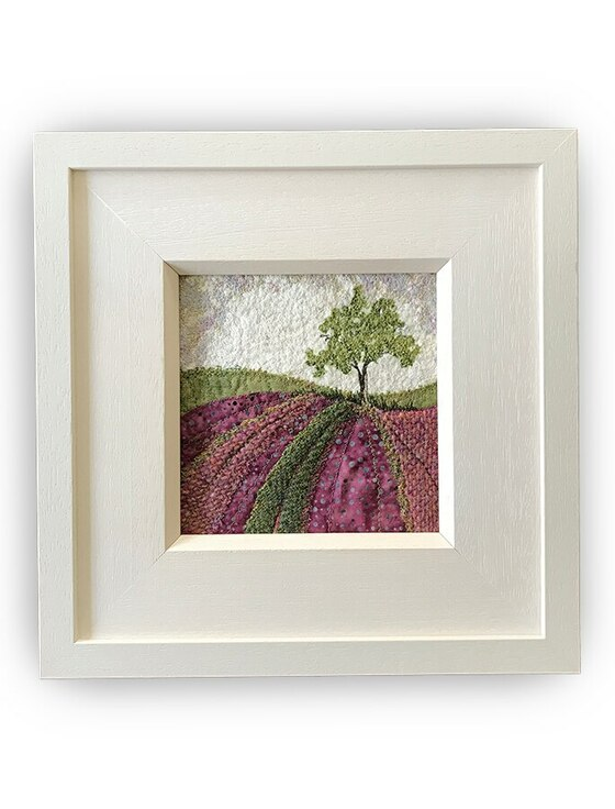 Framed Original Tweed Embroidery - Heatherland - Small