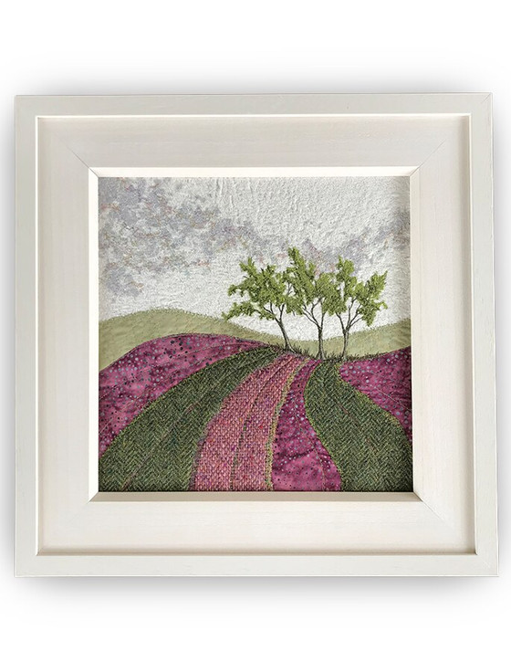 Framed Original Tweed Embroidery - Heatherland