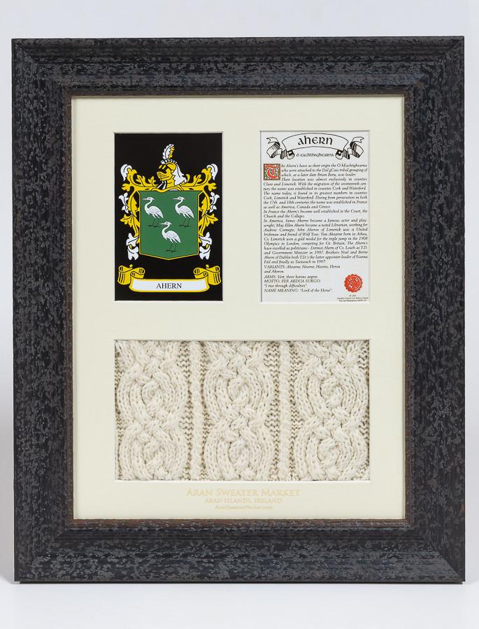 Ahern Clan Aran & History Display | Original Ahern Name ...