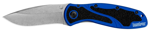 If blue is your color, this is your next must-have Blur. Like all Blurs, it's equipped with a big, slightly recurved blade that's ideal for multitasking. The blade shape offers both excellent slicing and piercing capabilities. High-performance Sandvik 14C28N stainless steel provides the Blur's blade with corrosion resistance and excellent edge-holding ability. The stonewashed blade finish gives the surface a desirable roughened and scuffed look that helps hide scratches and fingerprints.  Made in the USA; this Blur looks extra good in navy blue High-performance Sandvik 14C28N stainless steel blade, stonewashed finish hides scratches, non-reflective Anodized aluminum handles are scratch and fade resistant, Trac-Tec inserts promote solid grip SpeedSafe® assisted opening for easy one-handed opening with thumb stud FEATURES + DETAILS Status Discontinued Use Everyday, Work Type Assisted, Folder Style Pocketknife Designer Ken Onion Blade Style Drop Point with Recurve Blade Edge Plain Opening Action Assisted SpeedSafe® Opens With Thumb stud Lock Type Inset liner lock Pocketclip Reversible (right, tip-up/down) Handle Color Blue Made in USA Yes Country of Origin USA: Design, Prototype, Quality Control, Manufacture Warranty Limited Lifetime Warranty