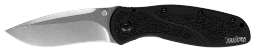 The Blur is a Next Level knife created by blade Guru Ken Onion. The unique Kershaw Blur series stands out among quality blades. This Blur features a blade of S30V powdered stainless steel. Powdered steel is dense and fine-grained, enabling it to take and hold an extremely fine edge for a longer period of time giving the weilder more work time and less downtime. The steel exhibits excellent toughness, wear resistance and hardness. Like all Blurs, the S30V Blur has a slightly recurved blade that's ideal for multitasking, providing top slicing and piercing capabilities. The S30V Blur has a stonewashed finish for a roughed-up, non-reflective look.  Made in the USA, upgraded blade steel S30V powdered stainless steel takes and hold an extremely fine edge; excellent toughness, wear resistance and hardness Anodized aluminum handles are scratch and fade resistant, Trac-Tec inserts promote solid grip SpeedSafe® assisted opening for easy one-handed opening with thumb stud FEATURES + DETAILS UseEveryday, Work TypeAssisted, Folder StylePocketknife DesignerKen Onion Blade StyleDrop Point with Recurve Blade EdgePlain Opening ActionAssisted SpeedSafe® Opens WithThumb stud Lock TypeInset liner lock PocketclipReversible (right, tip-up/down) Handle ColorBlack Made in USAYes Country of OriginUSA: Design, Prototype, Quality Control, Manufacture WarrantyLimited Lifetime Warranty
