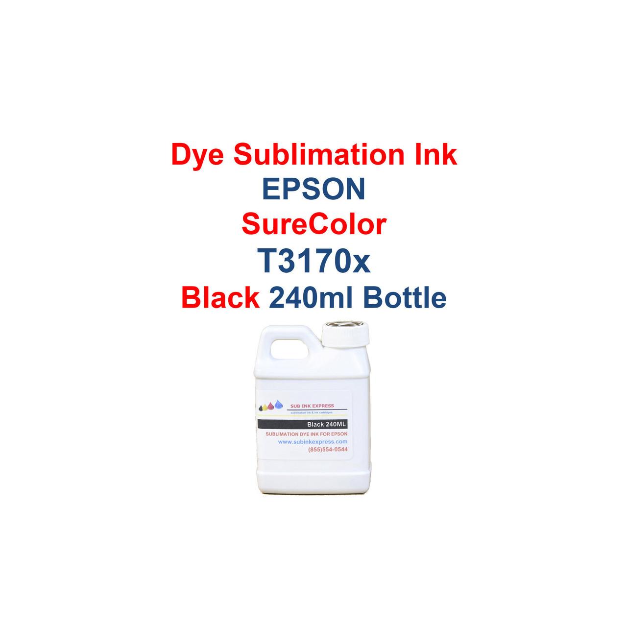 Dye Sublimation ink 4- 240ml bottles for Epson SureColor T3170x printers