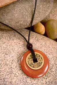 Earth Stone Pendant Stone Jewelry - Friendship