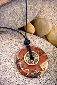 Earth Stone Pendant - Stone Jewelry - Passion