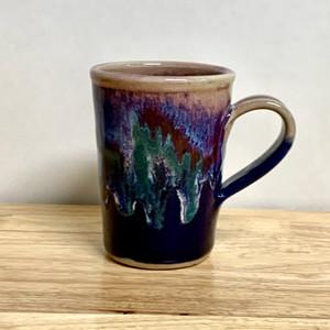 Handmade Coffee Mug  Blue and Lavender